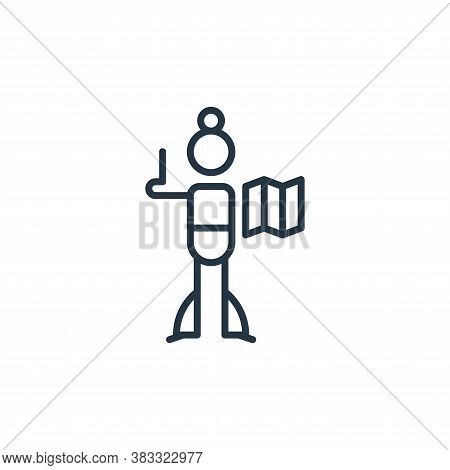 brochure icon isolated on white background from graphic design collection. brochure icon trendy and