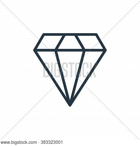 diamond icon isolated on white background from busines and finace collection. diamond icon trendy an