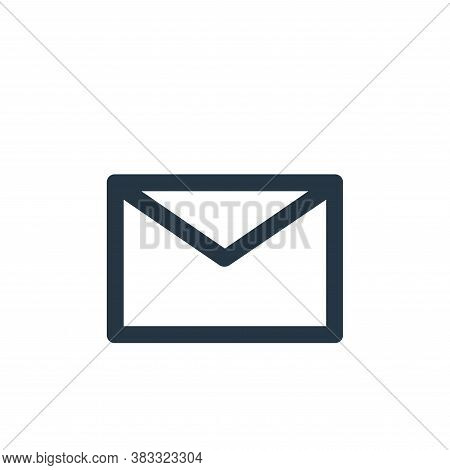 envelope icon isolated on white background from business and management collection. envelope icon tr
