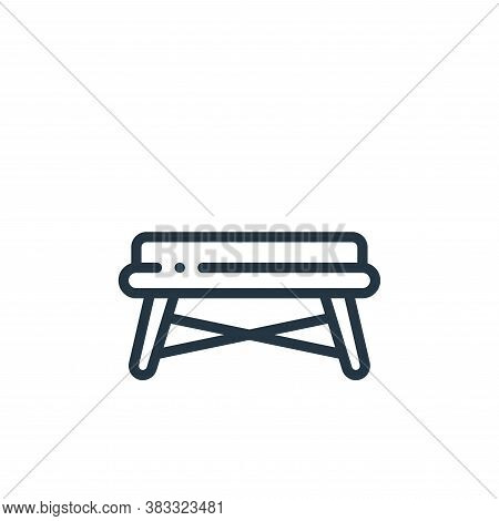 bench icon isolated on white background from furniture collection. bench icon trendy and modern benc