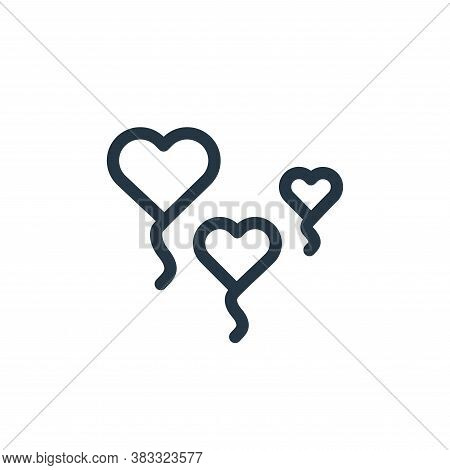 balloon icon isolated on white background from valentines day collection. balloon icon trendy and mo