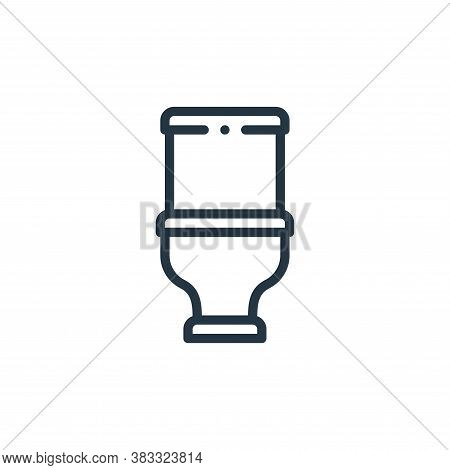 toilet icon isolated on white background from furniture collection. toilet icon trendy and modern to