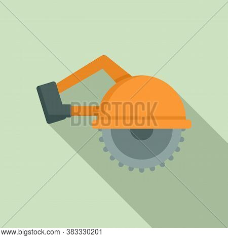 Circular Saw Icon. Flat Illustration Of Circular Saw Vector Icon For Web Design
