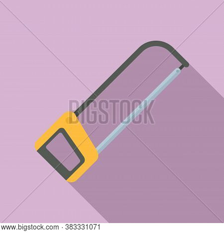 Industry Saw Icon. Flat Illustration Of Industry Saw Vector Icon For Web Design