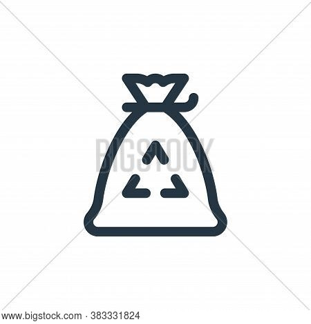 garbage bag icon isolated on white background from sustainable energy collection. garbage bag icon t