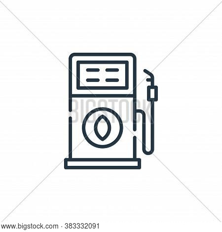 fuel icon isolated on white background from sustainable energy collection. fuel icon trendy and mode