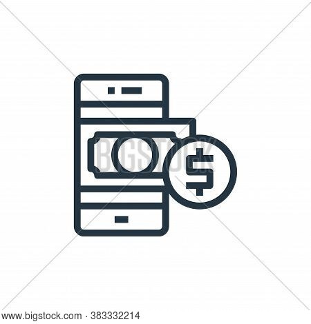payment icon isolated on white background from online business communication collection. payment ico