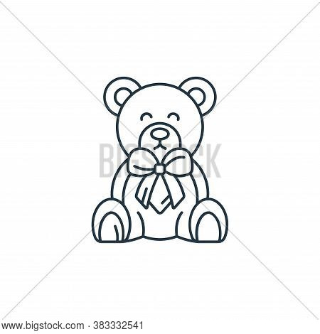 teddy bear icon isolated on white background from kids collection. teddy bear icon trendy and modern