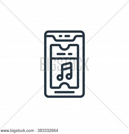 smartphone icon isolated on white background from event management collection. smartphone icon trend