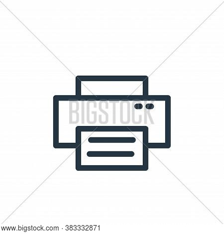 printer icon isolated on white background from business collection. printer icon trendy and modern p