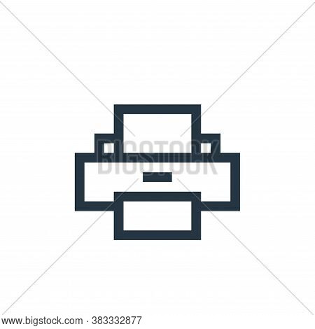 printer icon isolated on white background from wireless technology collection. printer icon trendy a