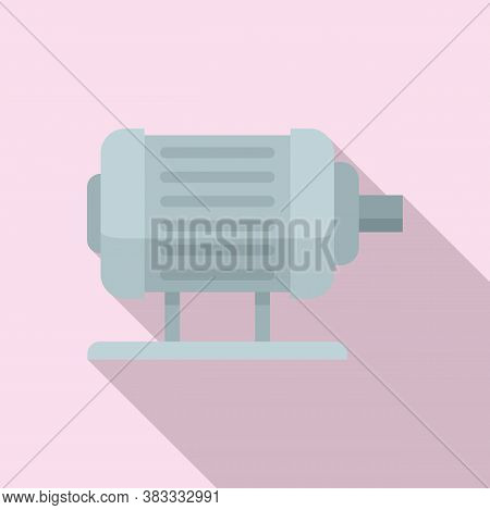 Electric Motor Icon. Flat Illustration Of Electric Motor Vector Icon For Web Design