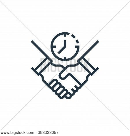 relationship icon isolated on white background from business model canvas collection. relationship i