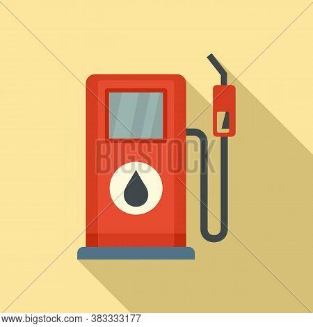 Gasoline Station Pump Icon. Flat Illustration Of Gasoline Station Pump Vector Icon For Web Design