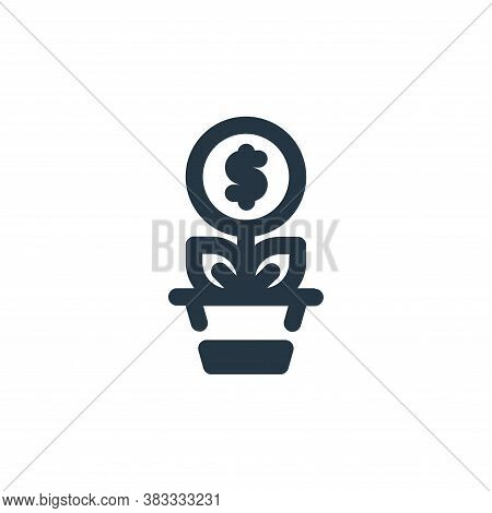 growth icon isolated on white background from economy collection. growth icon trendy and modern grow