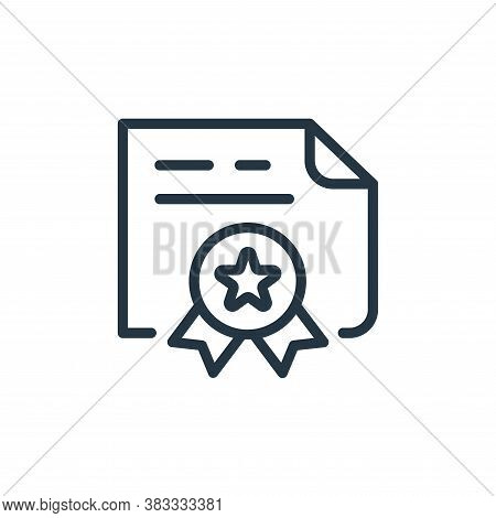 contract icon isolated on white background from finance and business collection. contract icon trend