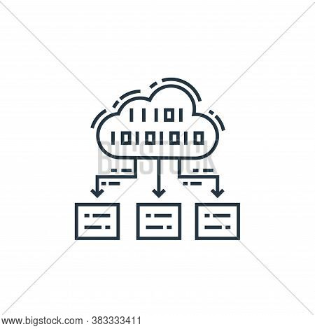 cloud coding icon isolated on white background from data analysis collection. cloud coding icon tren