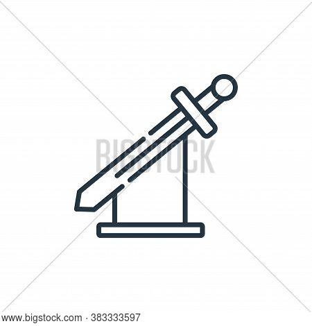 sword icon isolated on white background from museum collection. sword icon trendy and modern sword s