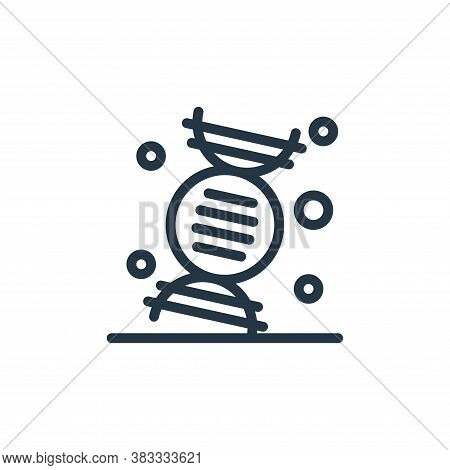 dna icon isolated on white background from medical collection. dna icon trendy and modern dna symbol