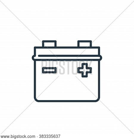 battery icon isolated on white background from car engine collection. battery icon trendy and modern