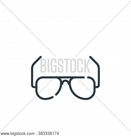 sunglasses icon isolated on white background from aviation collection. sunglasses icon trendy and mo