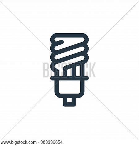 light bulb icon isolated on white background from sustainable energy collection. light bulb icon tre