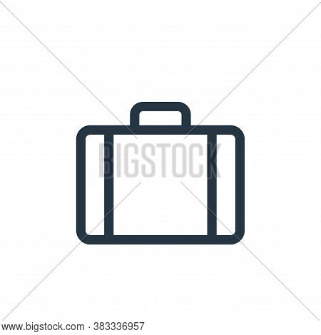 suitcase icon isolated on white background from business collection. suitcase icon trendy and modern