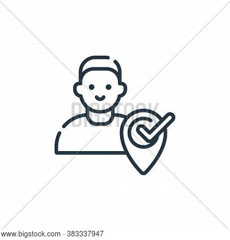 correct icon isolated on white background from location collection. correct icon trendy and modern c