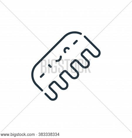 comb icon isolated on white background from barber shop collection. comb icon trendy and modern comb