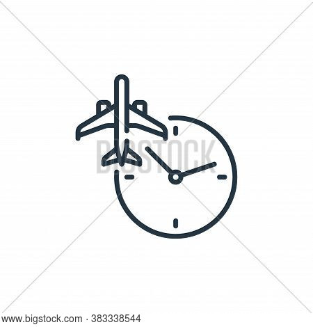 clock icon isolated on white background from aviation collection. clock icon trendy and modern clock