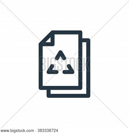 paper recycle icon isolated on white background from sustainable energy collection. paper recycle ic