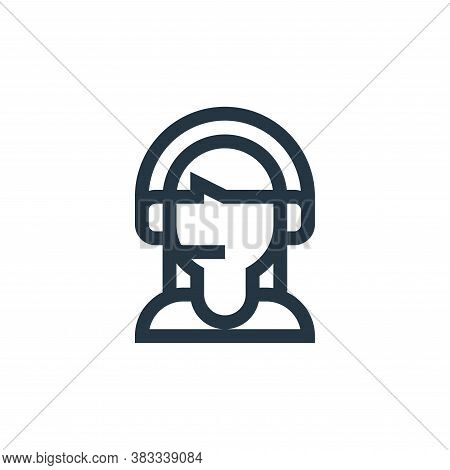 customer service icon isolated on white background from call center service collection. customer ser