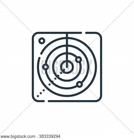 radar icon isolated on white background from location collection. radar icon trendy and modern radar