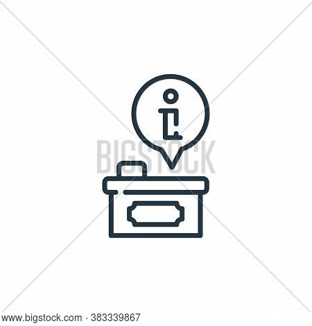 information icon isolated on white background from museum collection. information icon trendy and mo