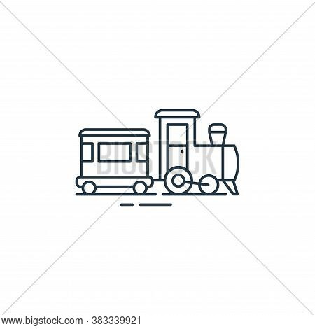 train toy icon isolated on white background from kids collection. train toy icon trendy and modern t