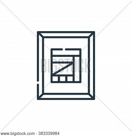 pinting icon isolated on white background from museum collection. pinting icon trendy and modern pin