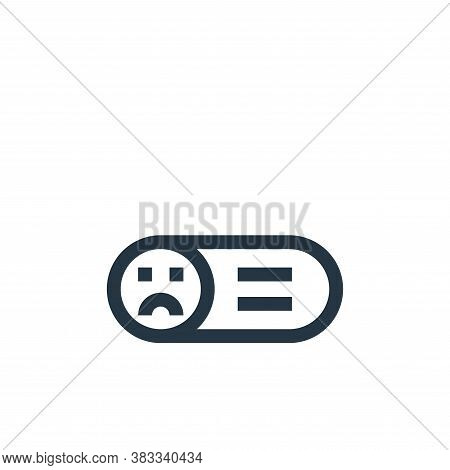 sad face icon isolated on white background from customer reviews collection. sad face icon trendy an
