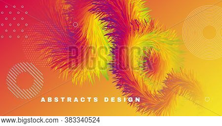 Fluid Dynamics. Wave Poster. Vibrant Pattern. Vector Geometric Design. Abstract Motion. Fluid Dynami