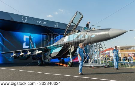 August 30, 2019. Zhukovsky, Russia.russian Multirole Fighter Mig-35 That Is Designed By Mikoyan, A D