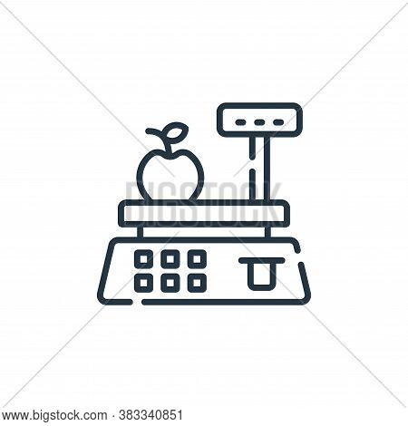 scale icon isolated on white background from supermarket collection. scale icon trendy and modern sc