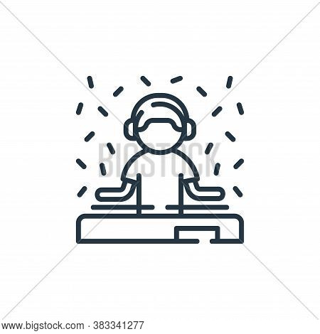 DJ icon isolated on white background from party and celebration collection. DJ icon trendy and moder