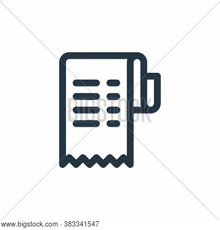 invoice icon isolated on white background from investment collection. invoice icon trendy and modern