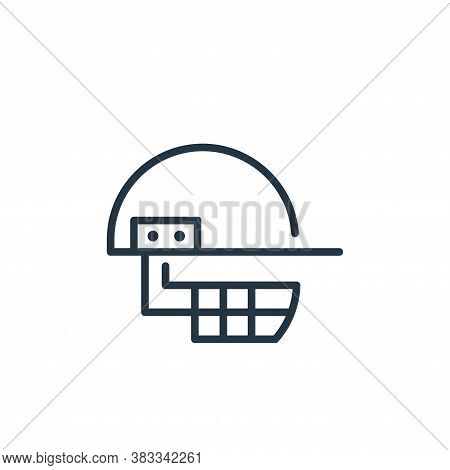 helmet icon isolated on white background from sports collection. helmet icon trendy and modern helme