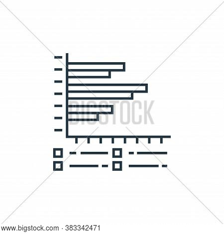 frequency graph icon isolated on white background from data analysis collection. frequency graph ico