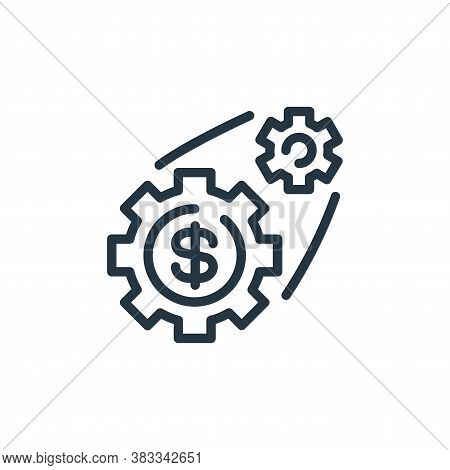 setting icon isolated on white background from finance and business collection. setting icon trendy