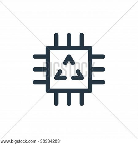 chip icon isolated on white background from sustainable energy collection. chip icon trendy and mode