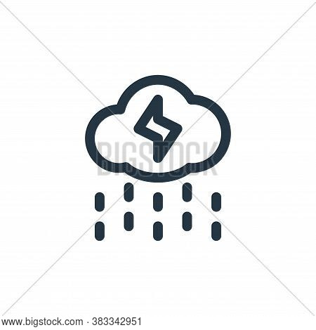 rain icon isolated on white background from sustainable energy collection. rain icon trendy and mode
