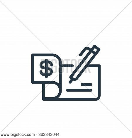 cheque icon isolated on white background from finance and business collection. cheque icon trendy an