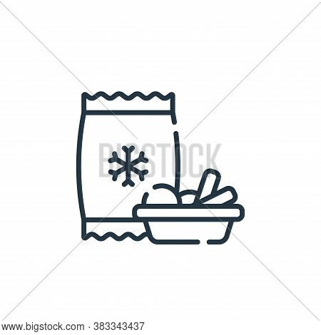 frozen goods icon isolated on white background from supermarket collection. frozen goods icon trendy
