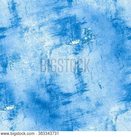 Distress Grunge Texture. Art Paint Background. Graphic Brush Pattern. Old Sketch. Blue Dirty Illustr